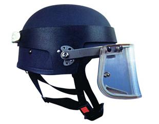带面罩防弹头盔
