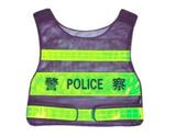 08新款警察反光背心(墨绿)